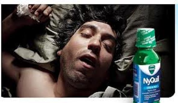 Image result for nyquil passed out